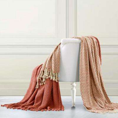 2-Pack Picasso Brick 100% Cotton Throws