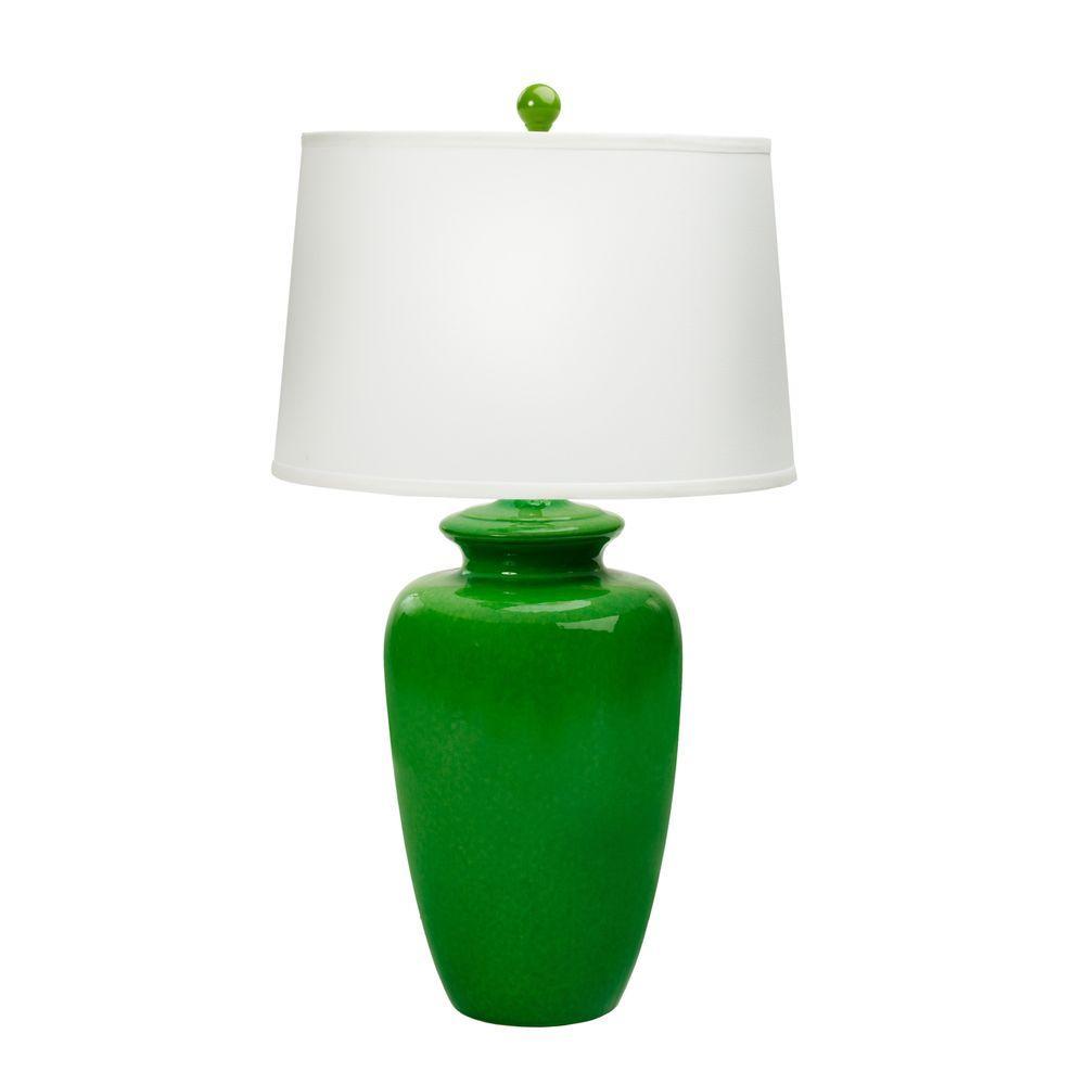 Fangio lighting 30 in jewel green ceramic table lamp 8854jewel jewel green ceramic table lamp mozeypictures Choice Image