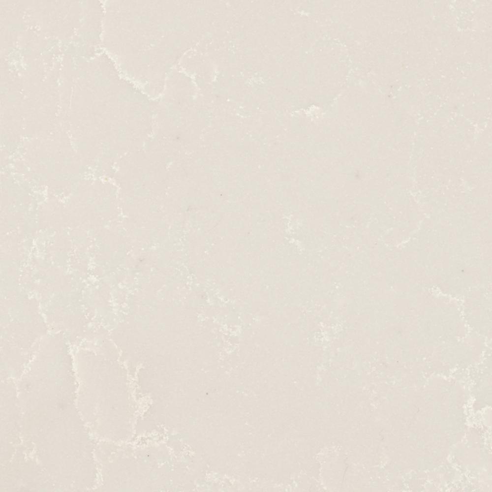 4 in. x 4 in. Quartz Countertop Sample in Perla White