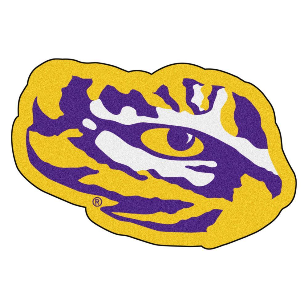 NCAA Louisiana State University Yellow 3 ft. x 4 ft. Specialty Area Rug