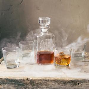 Click here to buy  Full of Boos 5-Piece Decanter Set.