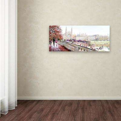 "20 in. x 47 in. ""Clare Bridge"" by The Macneil Studio Printed Canvas Wall Art"