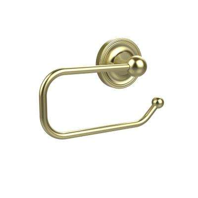 Prestige Regal Collection European Style Single Post Toilet Paper Holder in Satin Brass