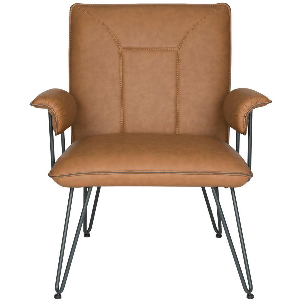 Johannes Camel Leather Arm Chair