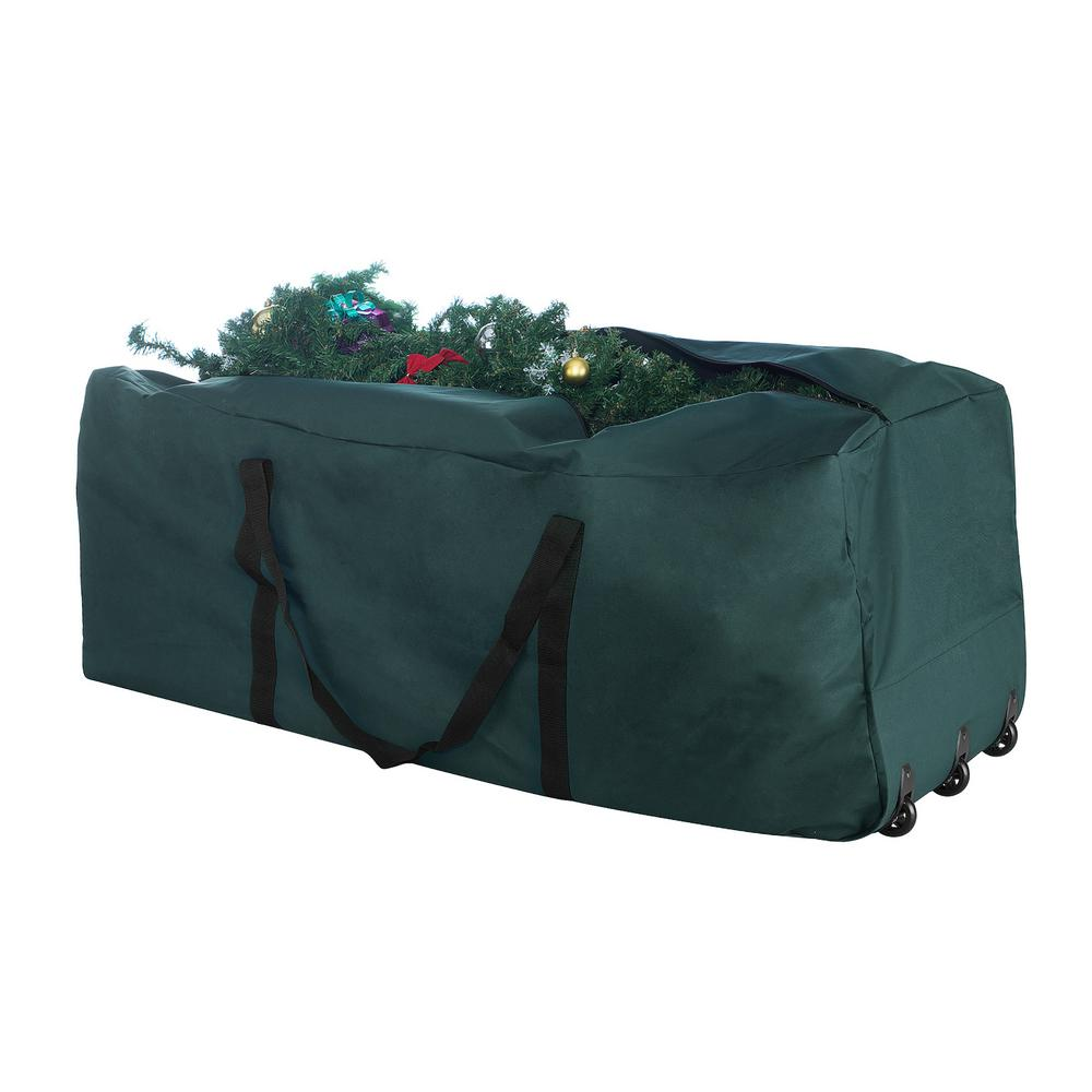 Premium Christmas Tree Rolling Storage Duffle Bag For Trees Up To 9 Ft. Tall by Elf Stor