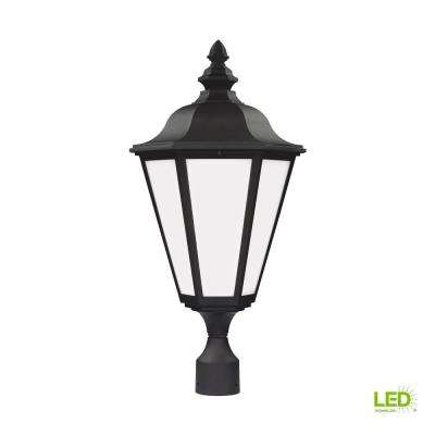 Brentwood 1-Light Outdoor Black Post Light with LED Bulb