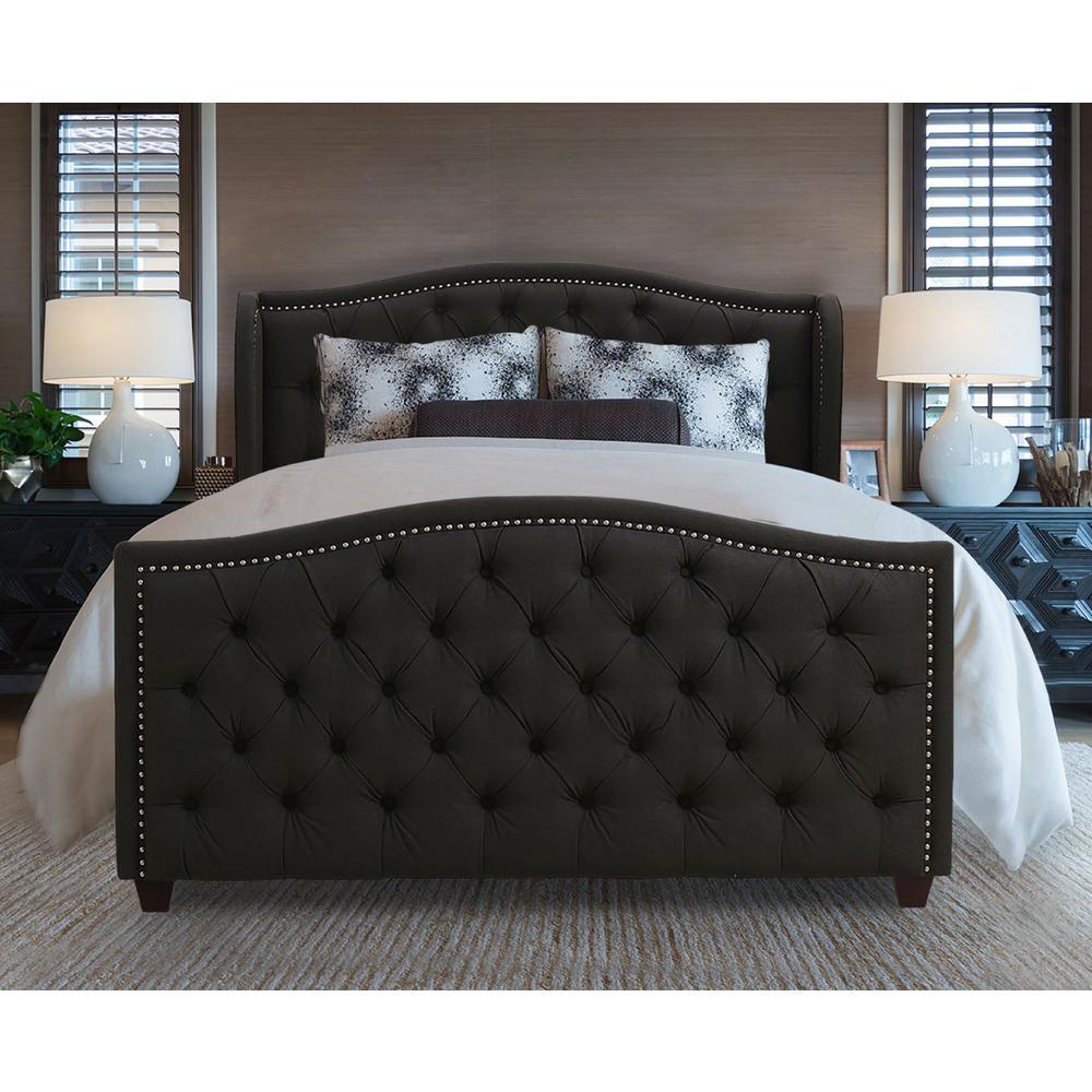 Marcella Dark Heather Gray Queen Upholstered Bed