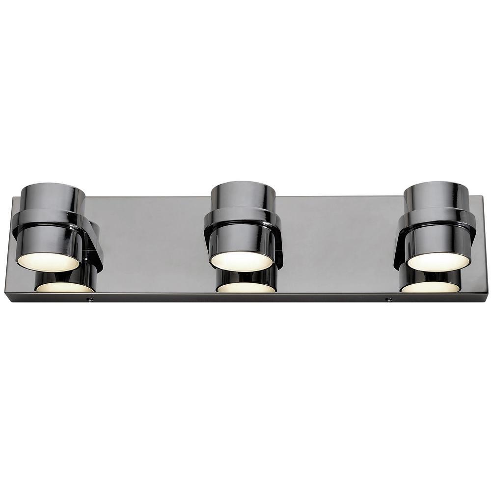 Rogue Decor Twocan 150-Watt Polished Chrome Integrated LED Bath Light