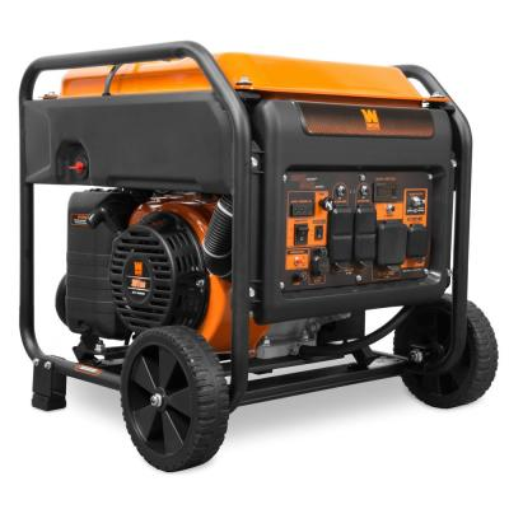 6250-Watt RV and Transfer-Switch-Ready 120V/240V Recoil-Start Gas-Powered Open Frame Inverter Generator, CARB Compliant