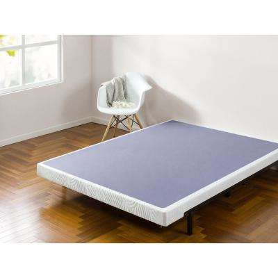 Edgar 4 Inch Low Profile Wood Box Spring Mattress Foundation Queen