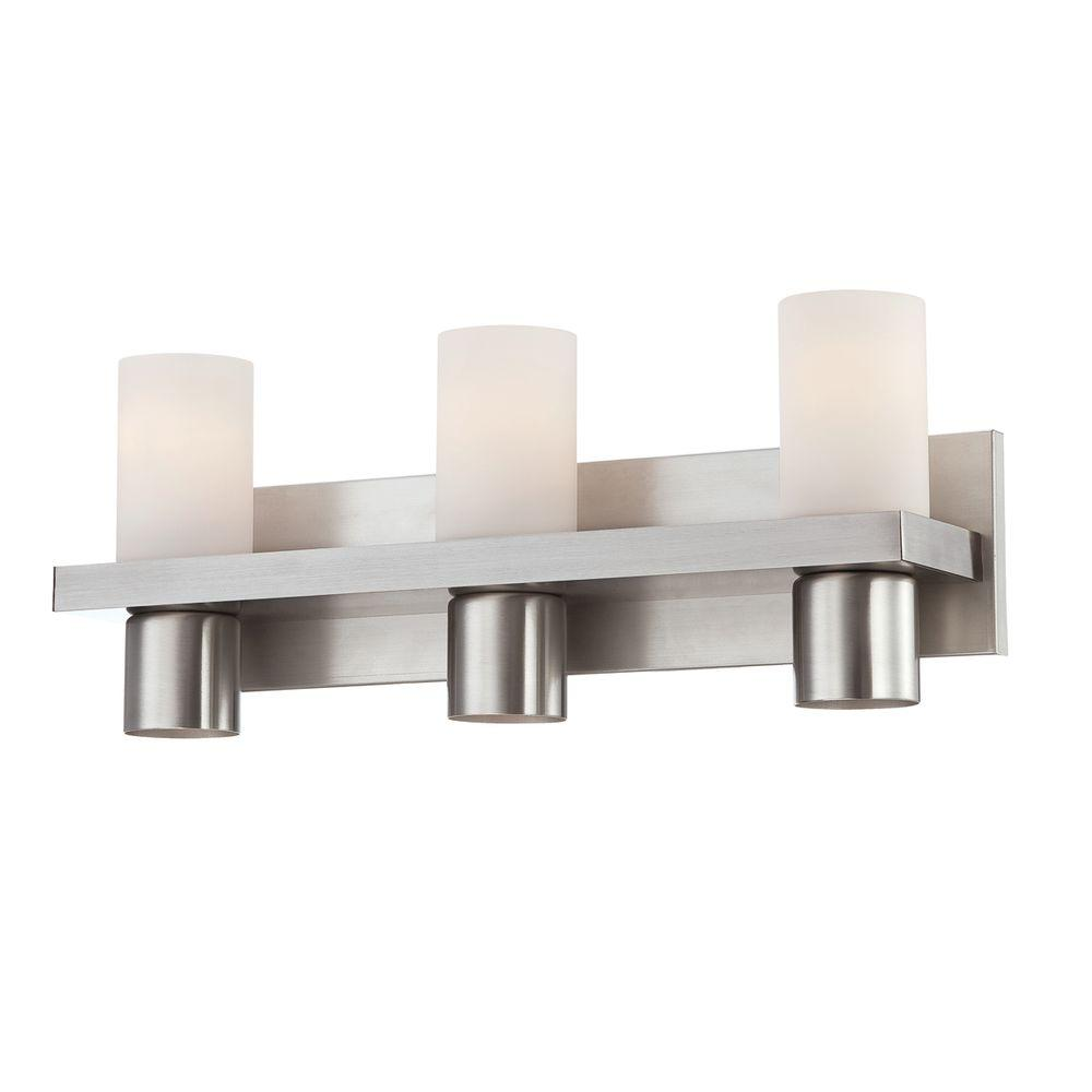 Eurofase pillar collection 6 light brushed nickel bath bar for Brushed nickel lighting for bathroom
