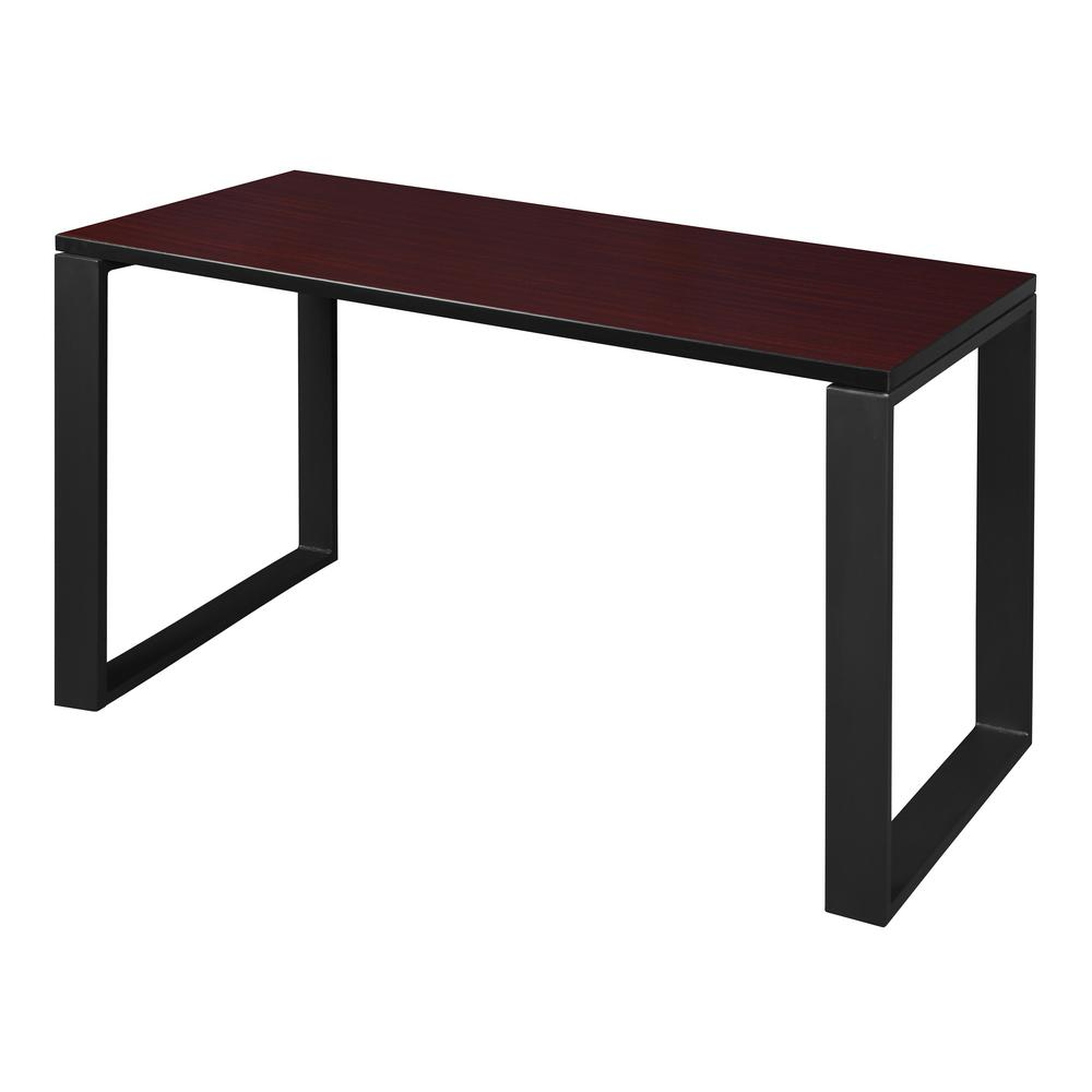 Structure 48 in. x 24 in. Mahogany/Black Training Table