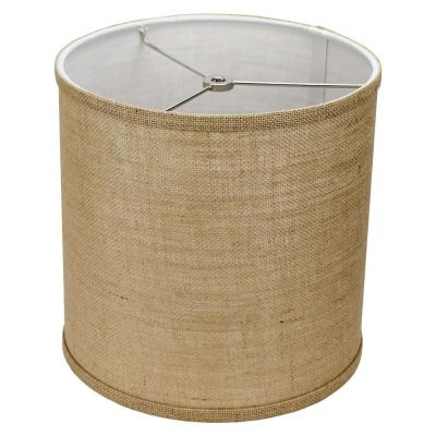 10 in. Top Diameter x 10 in. H x 10 in. Bottom Diameter Burlap Natural Drum Lamp Shade