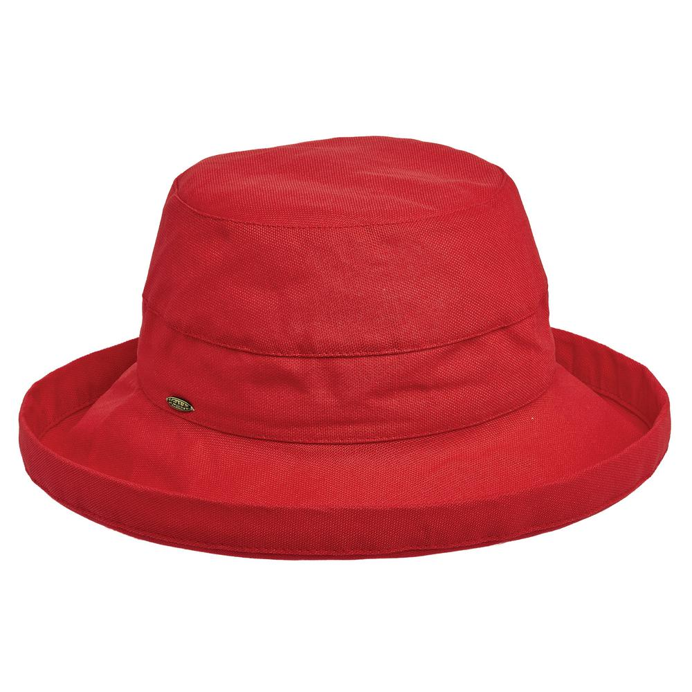 Scala Med Brim Cotton Hat-LC484-POPPY - The Home Depot ff6ea73bac9