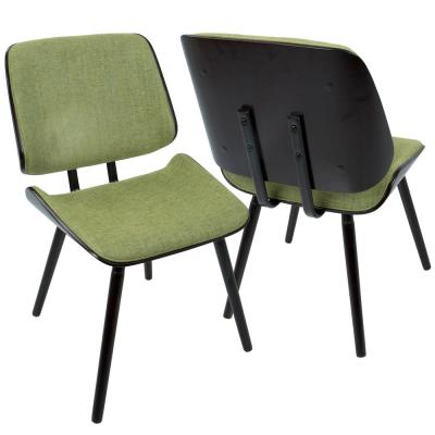 Lombardi Espresso And Green Dining/Accent Chair (Set Of 2)