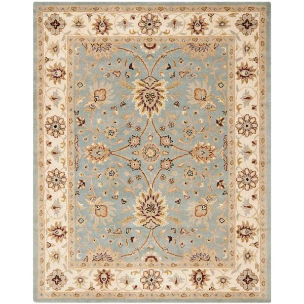 Safavieh Antiquity Light Blue Ivory 5 Ft X 8 Ft Area Rug At249a 5 The Home Depot