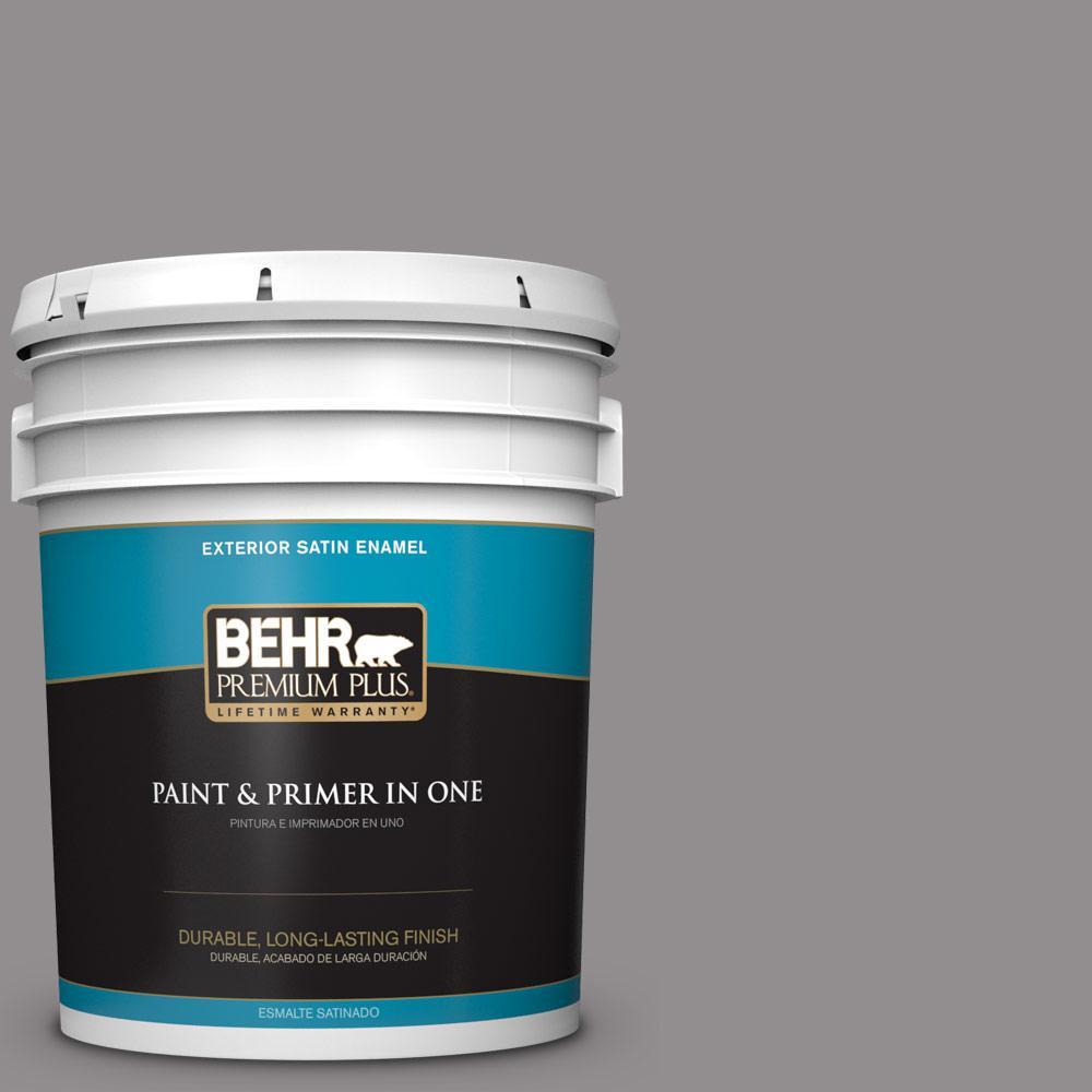 5 gal. #PPU16-14 Plum Smoke Satin Enamel Exterior Paint