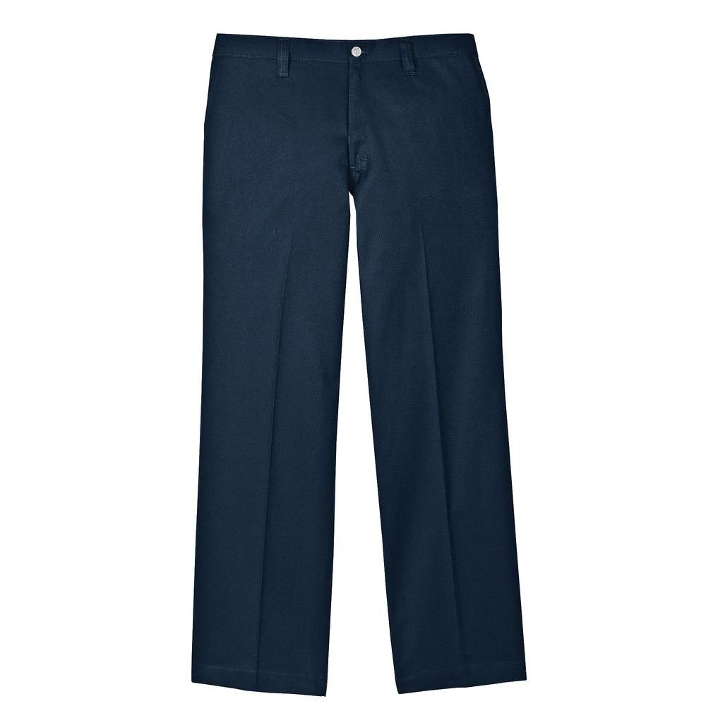 Men's 33-32 Navy Flame Resistant Relaxed Fit Twill Pant