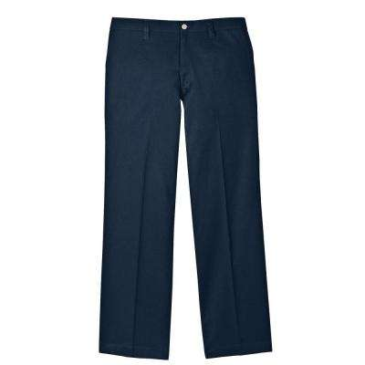 Men's 33-34 Navy Flame Resistant Relaxed Fit Twill Pant