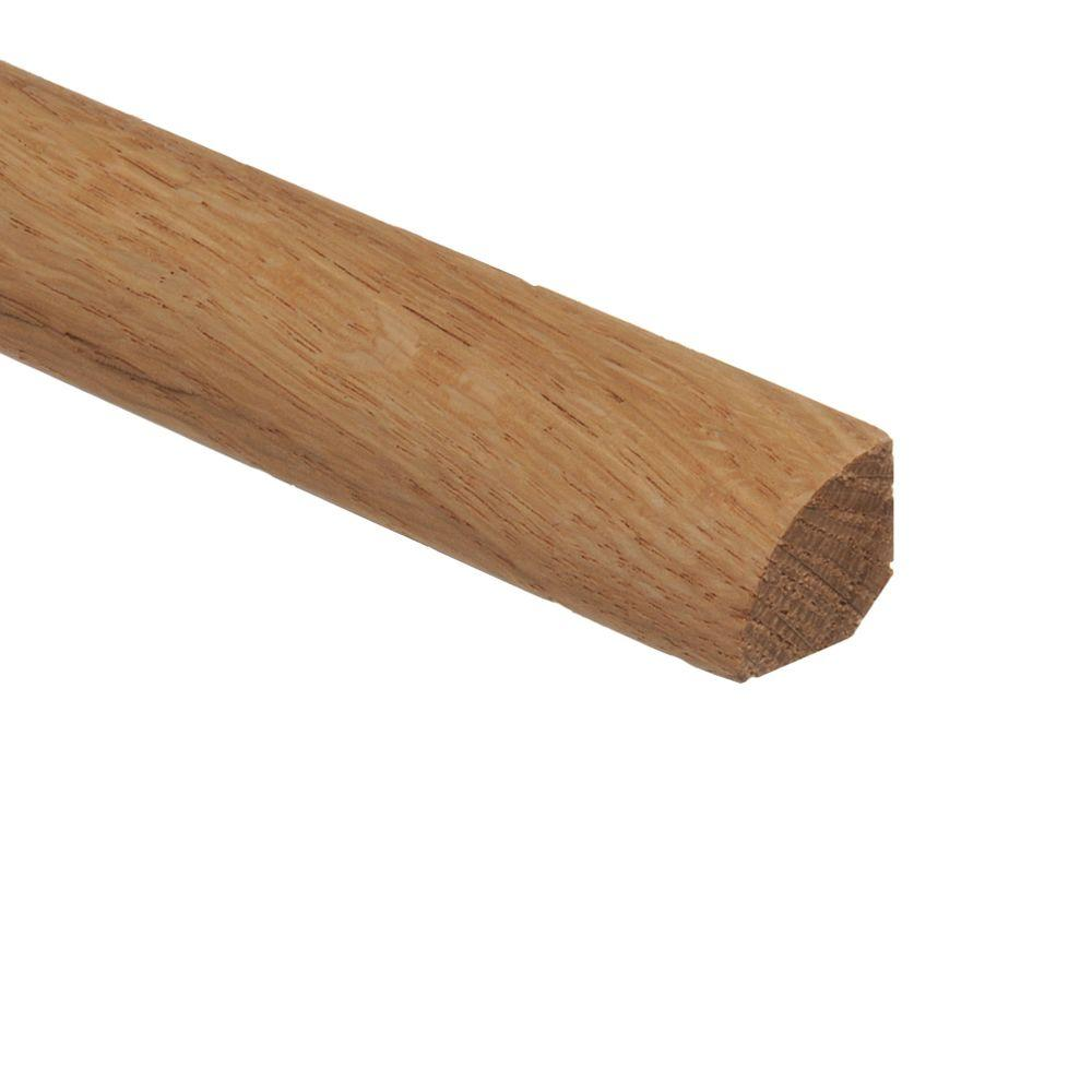 Zamma unfinished red oak 3 4 in thick x 3 4 in wide x 94 for Wood floor quarter round