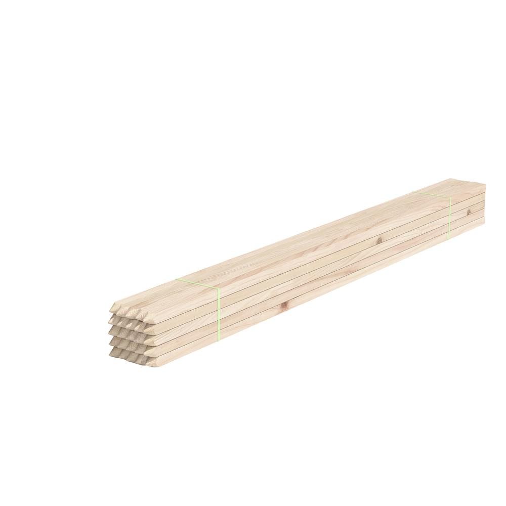 Greenes Fence 4 ft. Wood Garden Stake (25-Pack)