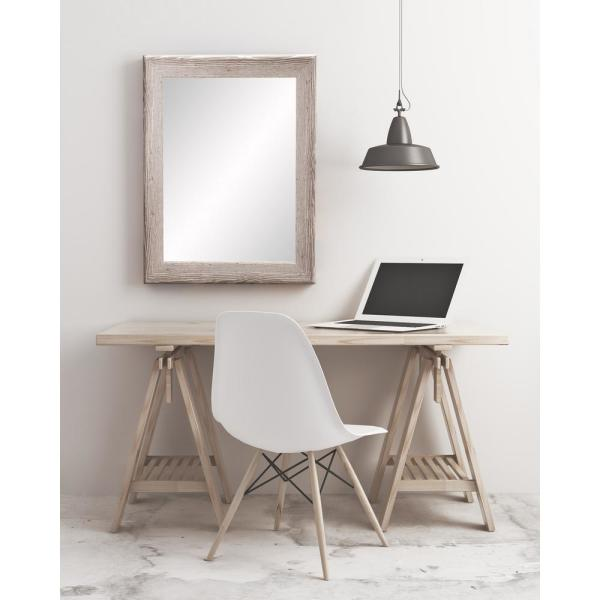 BrandtWorks Farmhouse Rectangle White Wall Mirror BM063L3