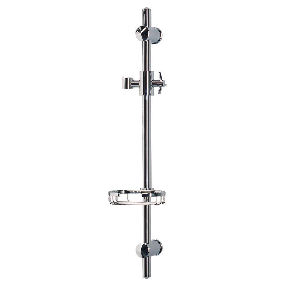 PULSE Showerspas Adjustable Slide Bar Shower Accessory in Chrome