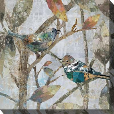 "24 in. x 24 in. ""Chirp"" Outdoor Canvas Wall Art"