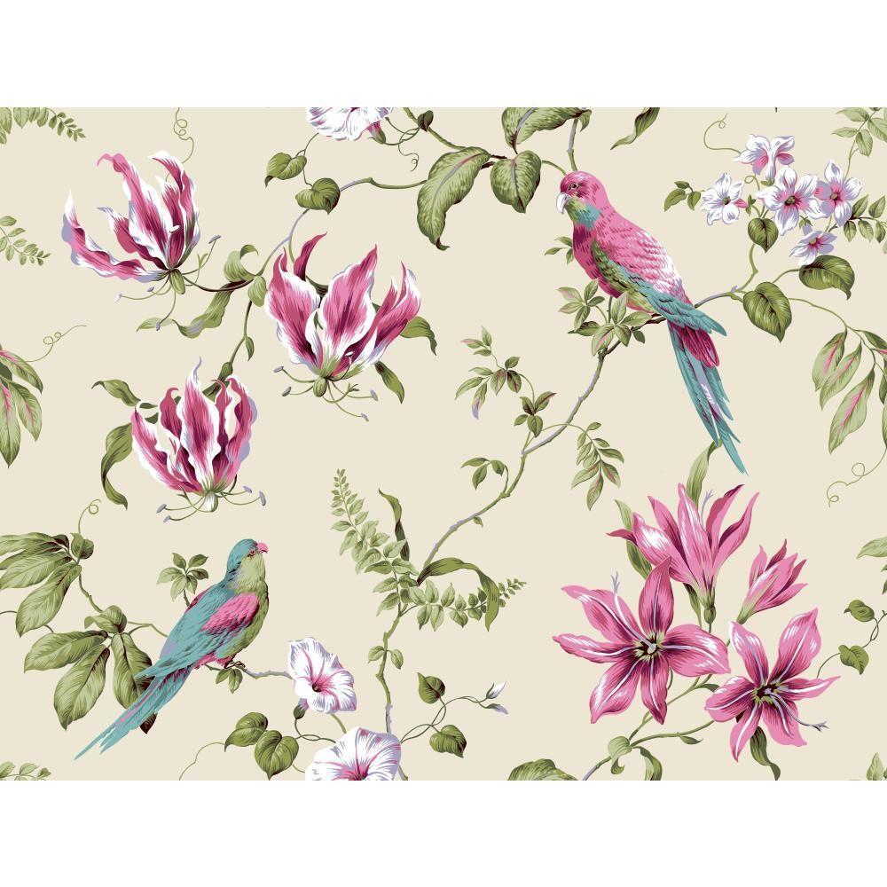 Casabella II Tropical Floral Wallpaper