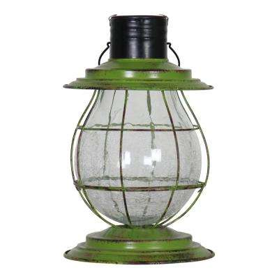 Solar Firefly Lantern Light with Base - Green