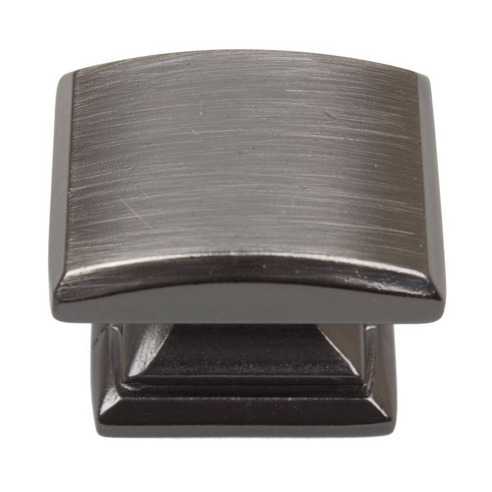 "GlideRite 7//8/"" Square Pyramid Cabinet Hardware Knob Brushed Pewter 5746-BP-1"