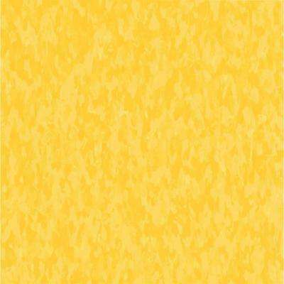 Take Home Sample - Imperial Texture VCT Lemon Lick Commercial Vinyl Tile - 6 in. x 6 in.