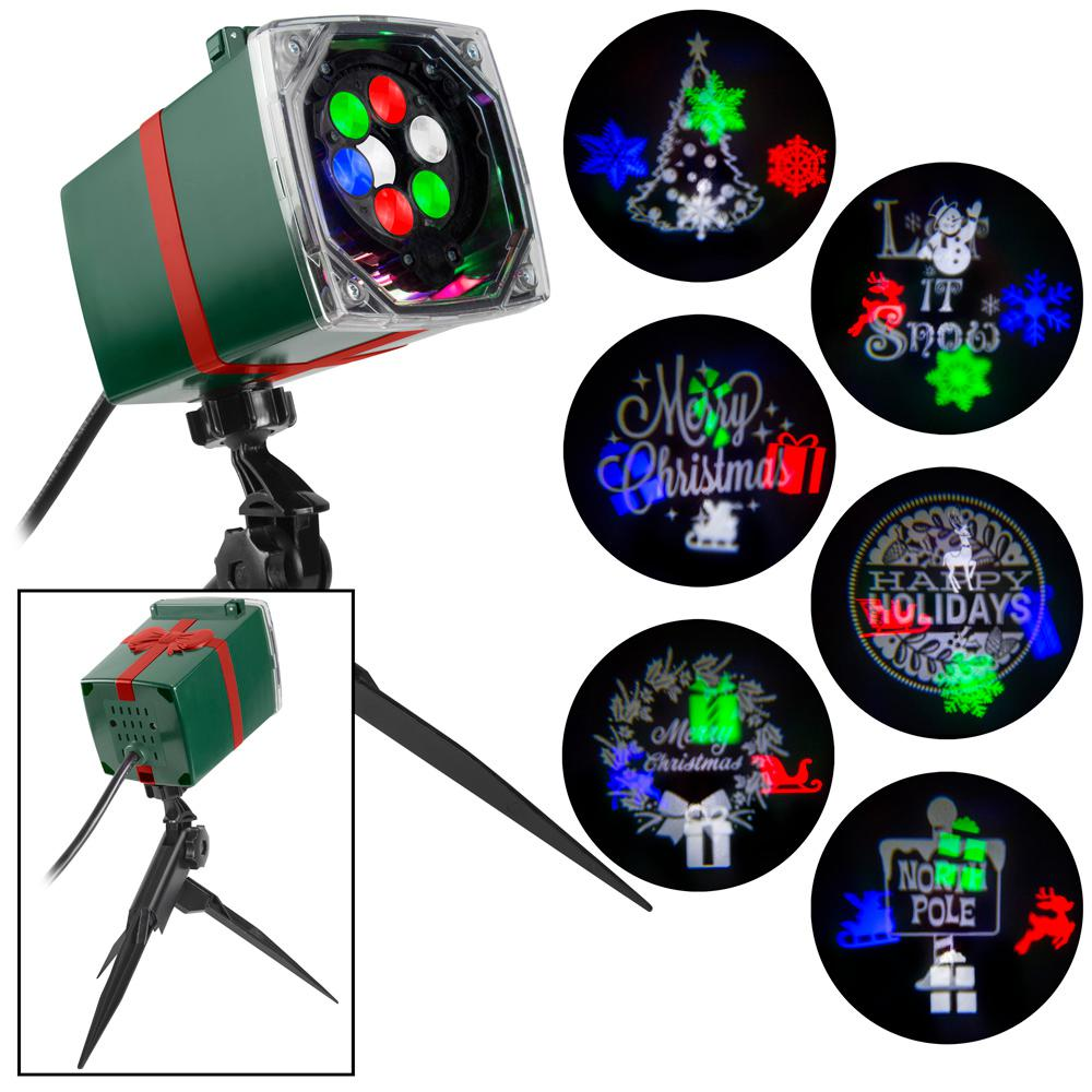LightShow Christmas Lightshow Projection Whirl-a-Motion and Static with 6-Slides
