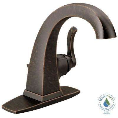 Everly 4 in. Centerset Single-Handle Bathroom Faucet in SpotShield Venetian Bronze