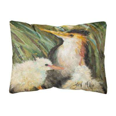 12 in. x 16 in. Multi Color Lumbar Outdoor Throw Pillow Happy Family