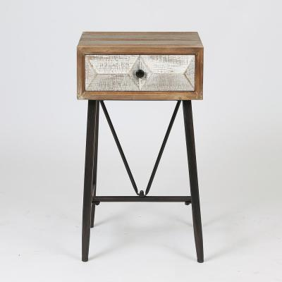 Deco Single Drawer End Table