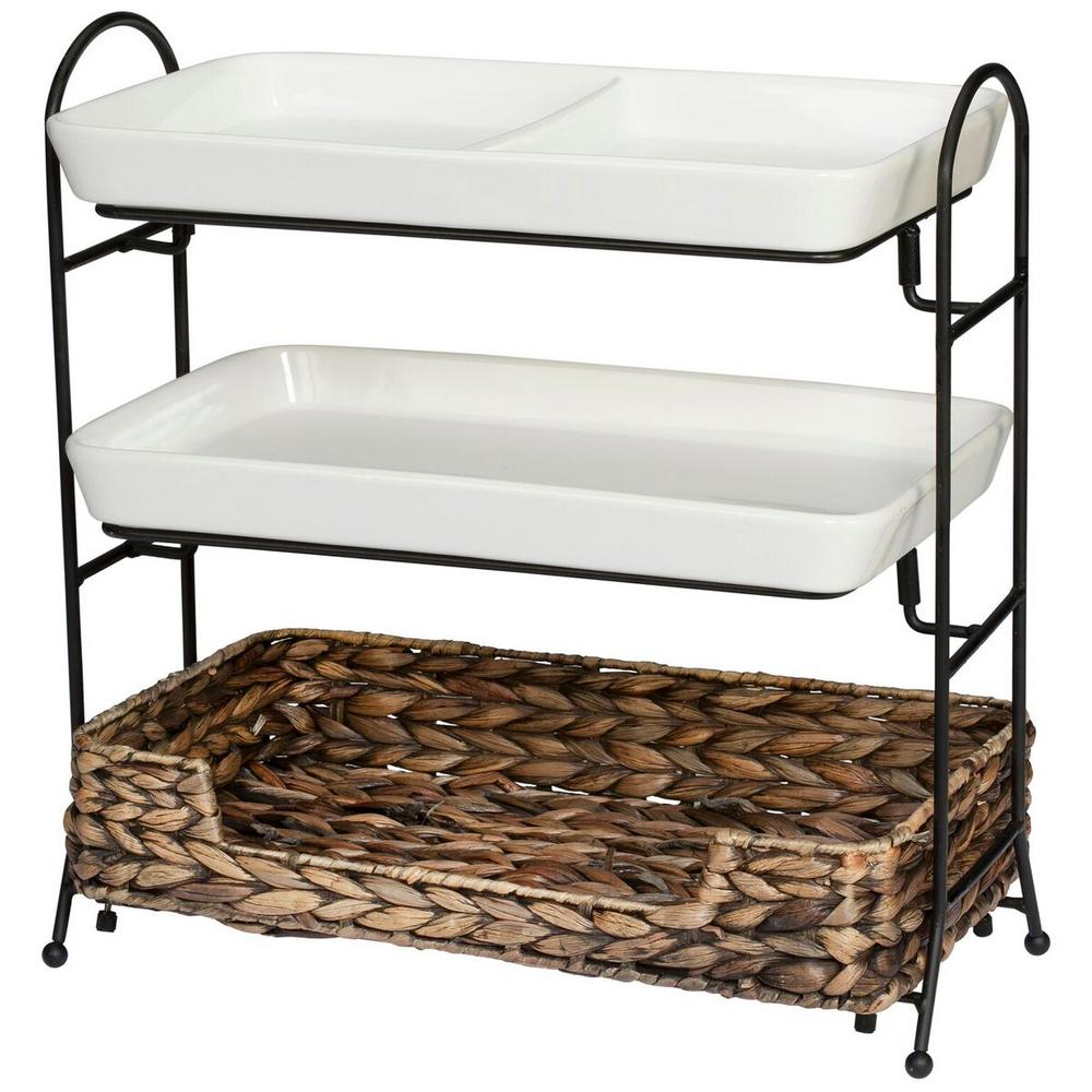 CreativeWare Entertainment Collection 'Island Breeze' 3-Tier Buffet Server