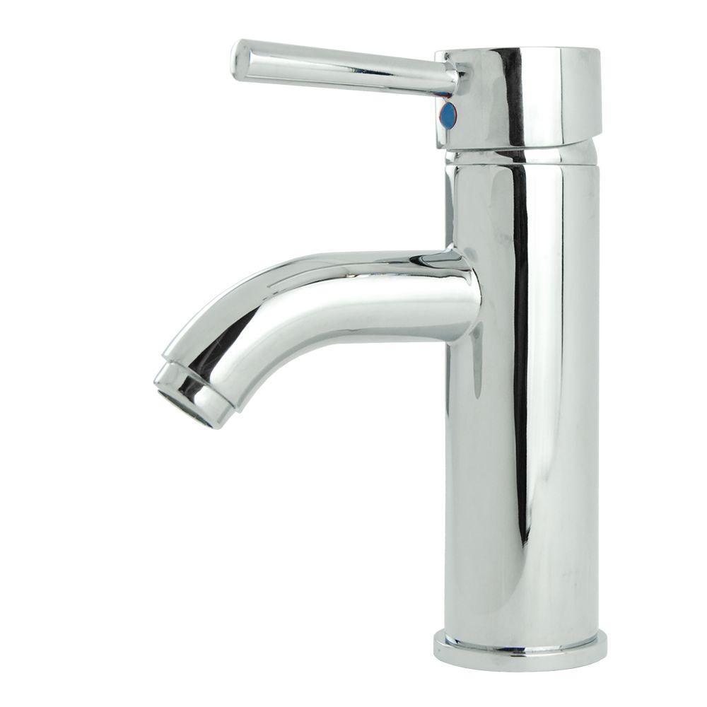 Fontaine Ultime European Single Hole Single-Handle Low-Arc Bathroom Faucet in Chrome