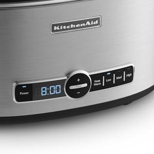 KitchenAid 6 Qt. Programmable Stainless Steel Slow Cooker ...