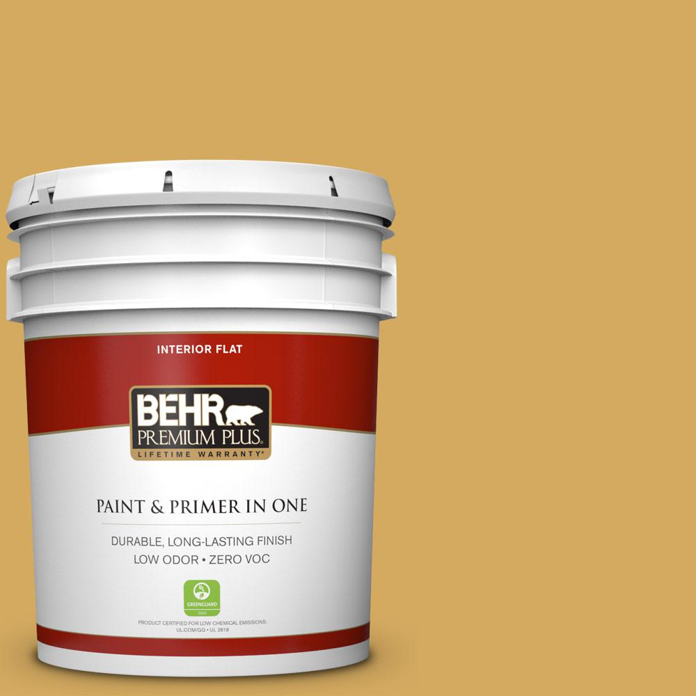 5 gal. #350D-5 French Pale Gold Zero VOC Flat Interior Paint