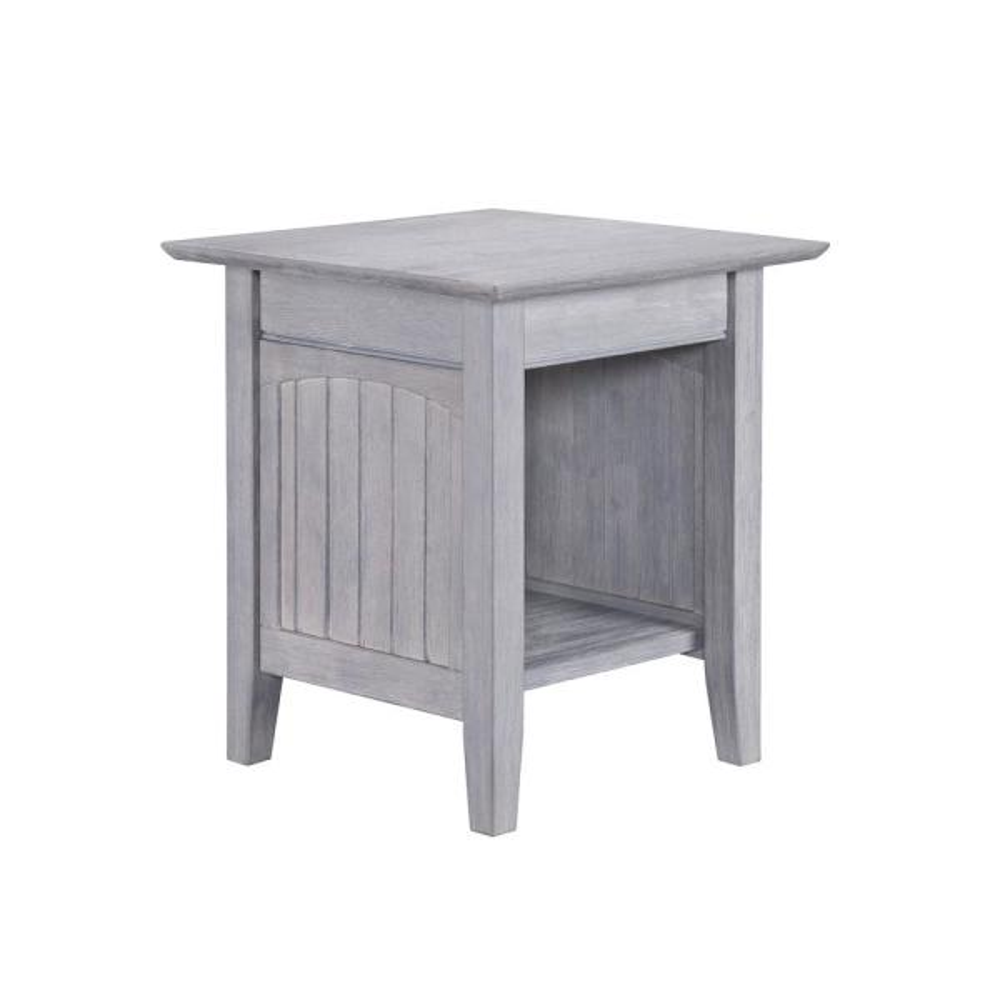 Atlantic Furniture Nantucket Driftwood Grey End Table