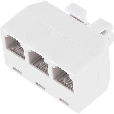 3-Way Phone Line Splitter - White