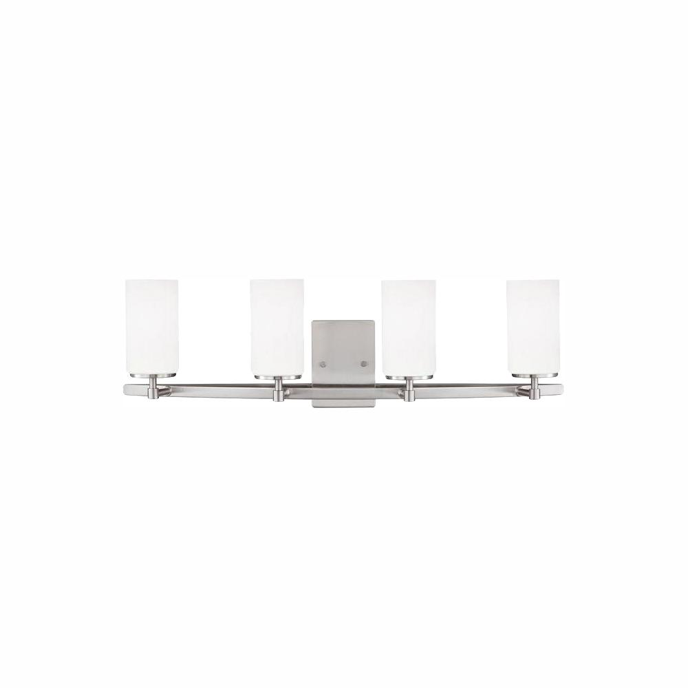 Sea Gull Lighting Alturas 4-Light Brushed Nickel Vanity Light with LED Bulbs