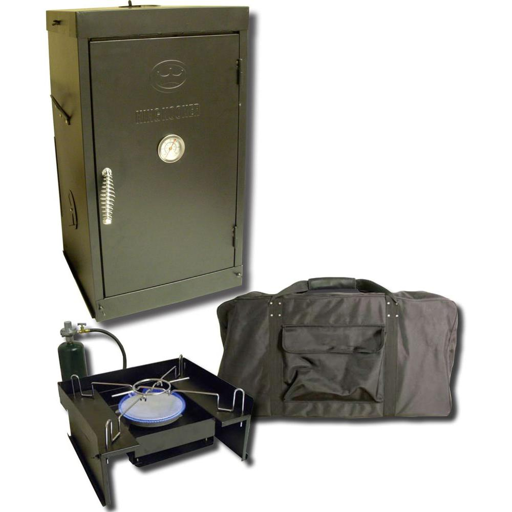 King Kooker 27-1/2 in. Tall Portable Propane Gas Outdoor Smoker with Low Pressure Burner