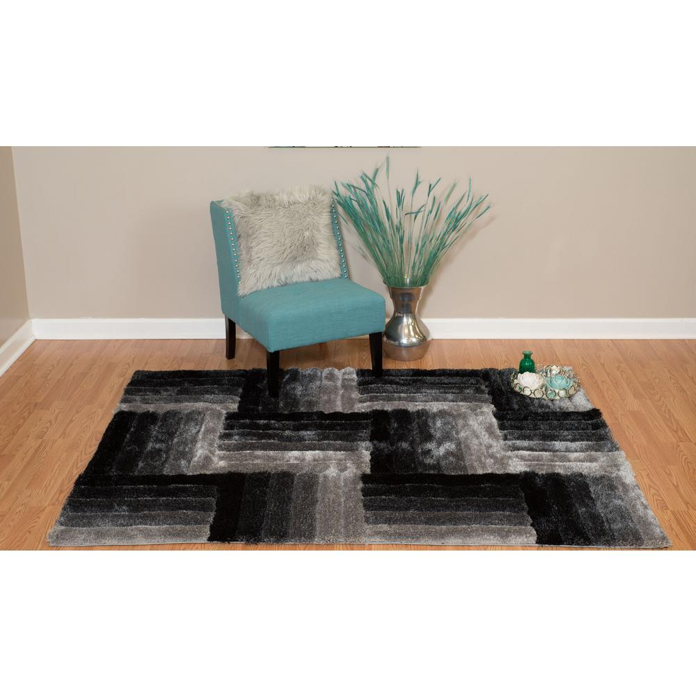 United Weavers Finesse Flagstone Black 5 Ft 3 In X 7 Ft 2 In Area Rug