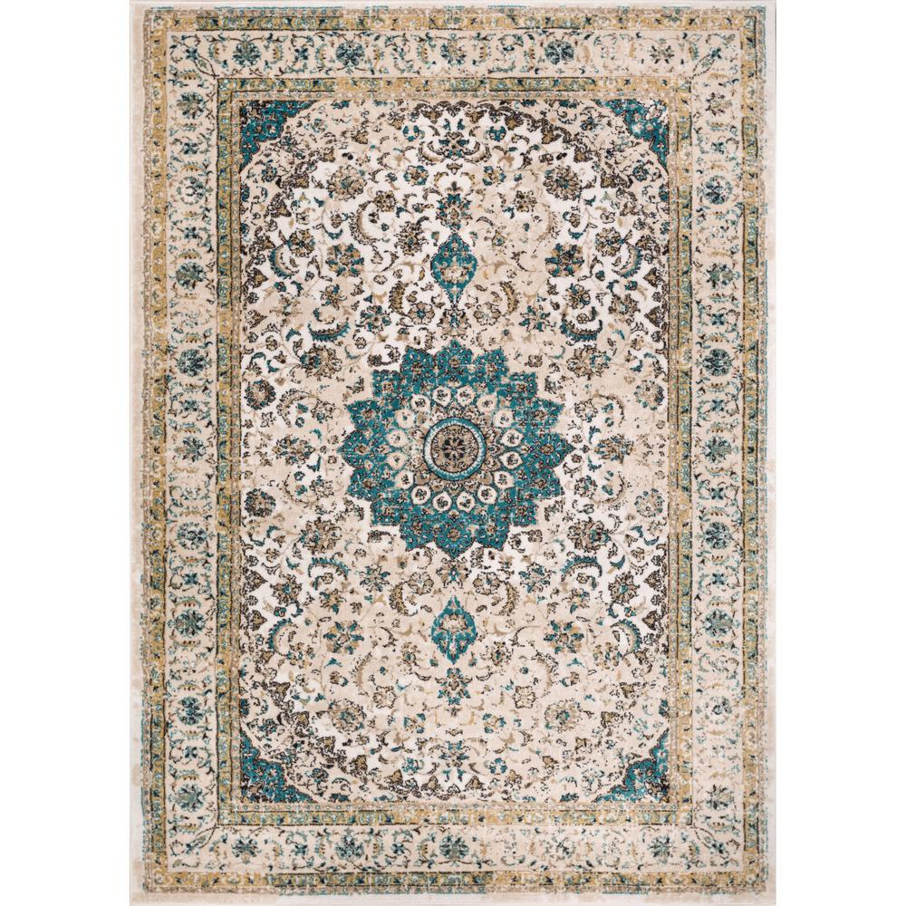 Well Woven Luxury Mahal Beige 8 Ft X 11 Ft Traditional Medallion