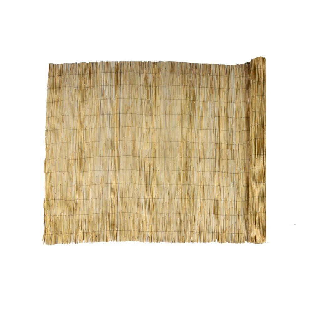 72 in. H Natural Reed Garden Fence