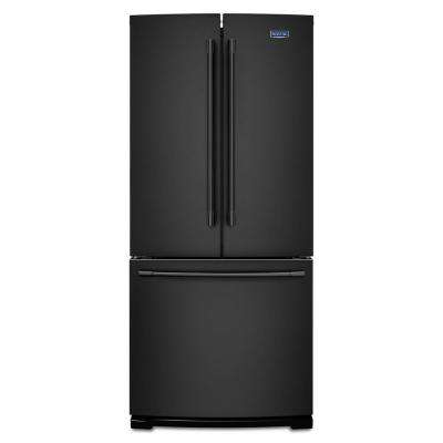 30 in. W 20 cu. ft. French Door Refrigerator in Black