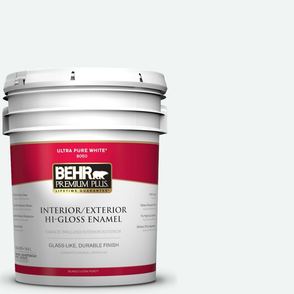 5-gal. #BL-W9 Bakery Box Hi-Gloss Enamel Interior/Exterior Paint