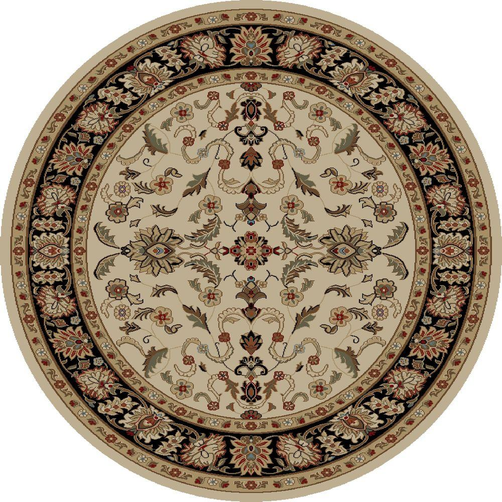 Concord Global Trading Ankara Agra Ivory 7 ft. 10 in. Round Area Rug